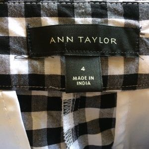 Ann Taylor Shorts - Embroidered Gingham Shorts